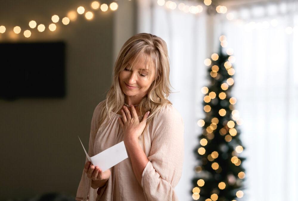 Weihnachtspost, die ankommt in Kopf und Herz